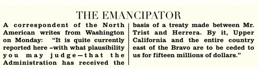 Article in the Boston Emancipator, February 2, 1848
